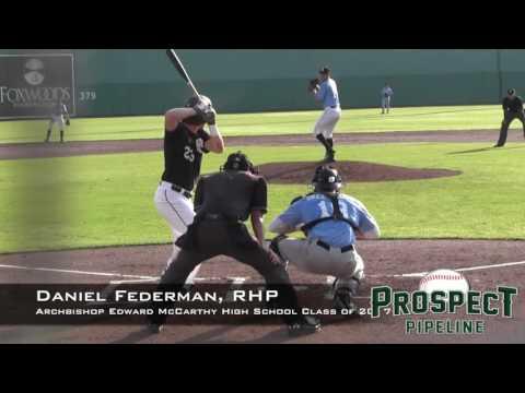 Daniel Federman Prospect Video, RHP, Archbishop Edward McCarthy High School Class of 2017