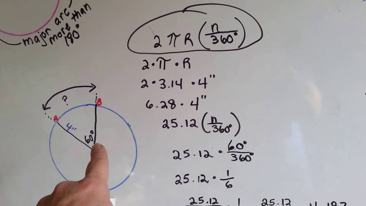 Major Or Minor Arc, Arc Length Theorem (geometry #179)