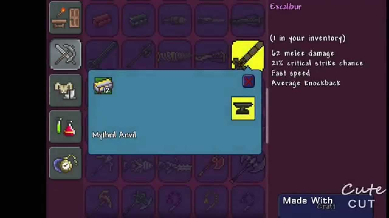 How To Craft Anvil In Terraria