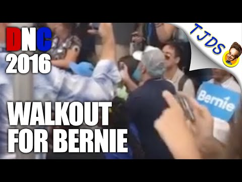 Bernie Delegates Walk Out, Take Over Media Tent