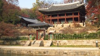 Huwon Secret Garden inside Changdeokgung Palace in Seoul, South Korea
