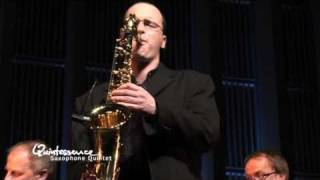"Quintessence Saxophone Quintet plays Mozart: 25th Symphony, ""25 plus"""