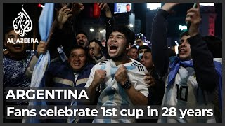 Celebrations in Buenos Aiŗes as Argentina claim Copa America title