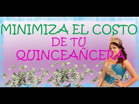 Minimiza el costo de tu quinceanera