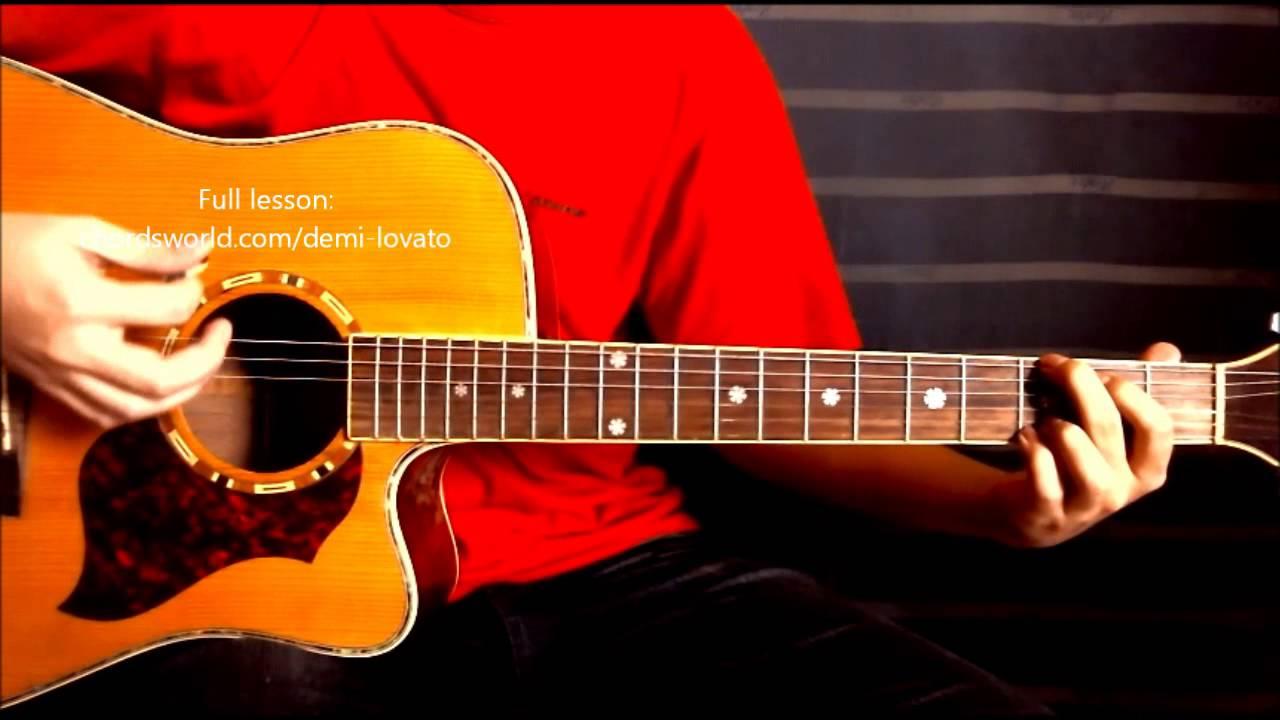 Warrior Chords Demi Lovato Chordsworld Guitar Tutorial Youtube