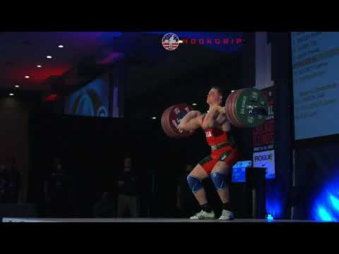 Ian Wilson (105) - 195kg Clean and Jerk @ 2017 USA Nationals