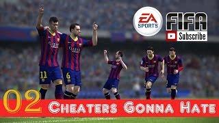 FIFA Gameplay - Cheaters GONNA HATE !!! 02 - Gremio Vs Barcelona Fc