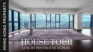 🇭🇰 4K HOUSE TOUR | TOP FLOOR DUPLEX PENTHOUSE WITH STUNNING VIEWS | Hong Kong