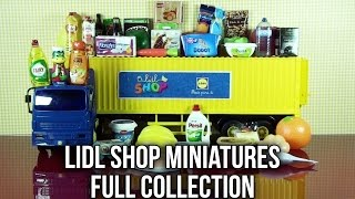 LIDL Shop Miniatures FULL SET of 40 Mini Groceries and Shopping Items