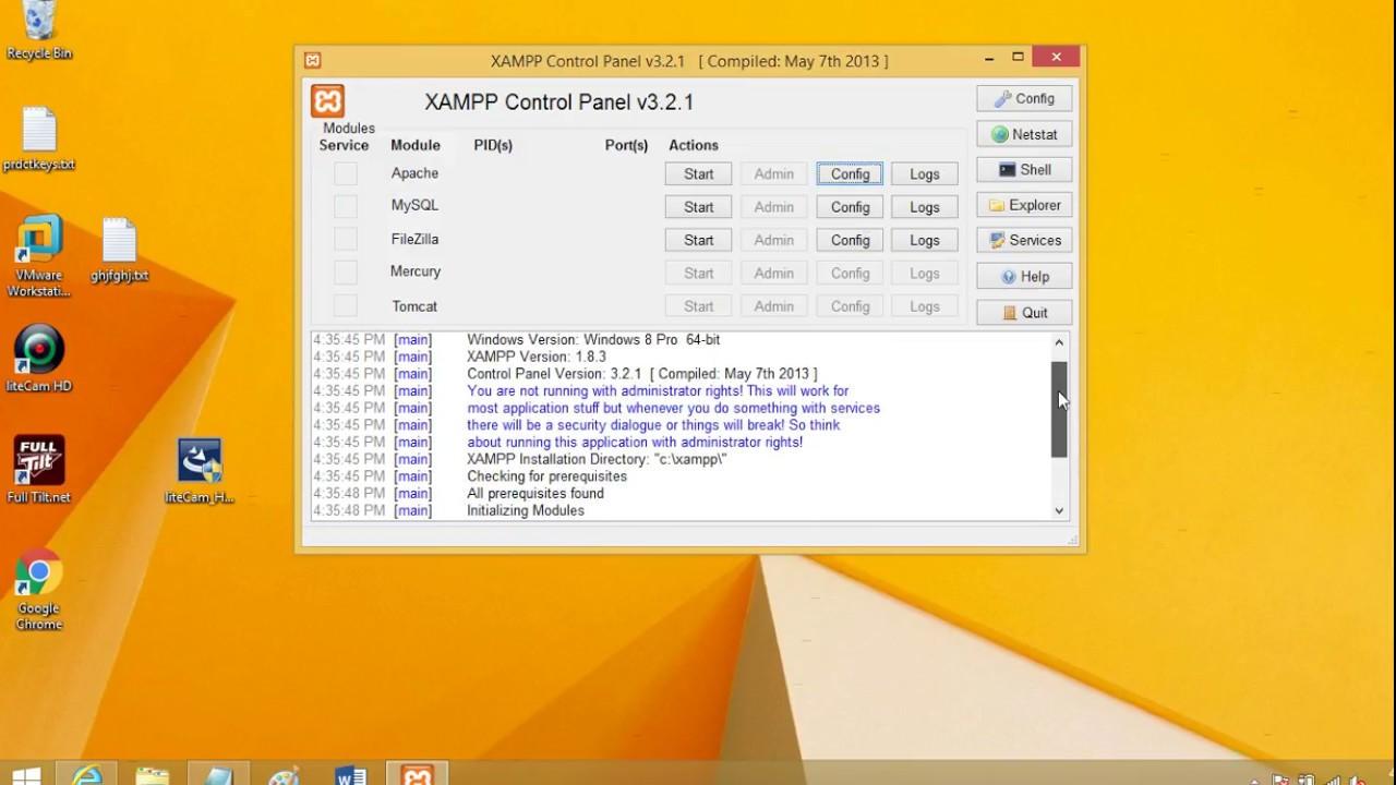 download xampp control panel 321