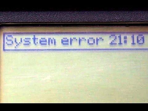 HP Designjet 500/800 System Error 21:10 Repair