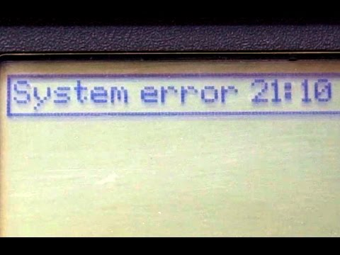 HP Designjet 500/800 System Error 21:10 Repair