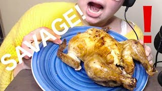 Eating a whole chicken with my bare hands! ASMR Eating Sounds - Whispering