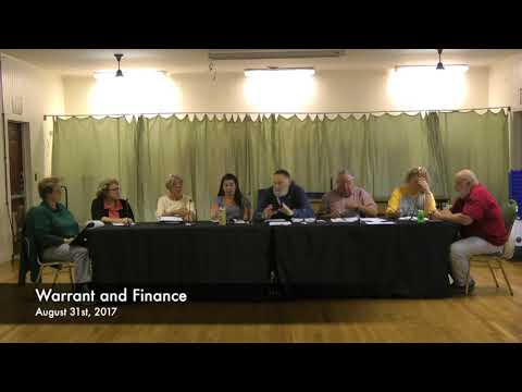 Warrant and Finance - 08-31-2017