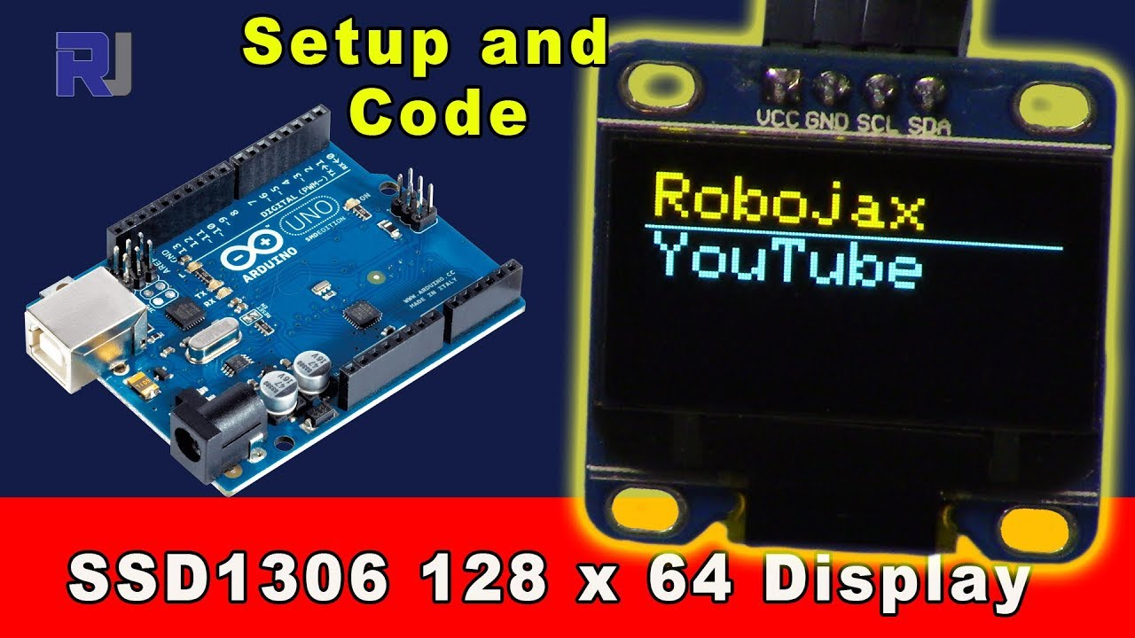 How to use SSD1306 128x64 OLED Display I2C with Arduino code