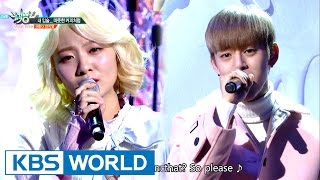 Daehyun & An Jiyoung - My Lips…Warm Like Coffee [Music Bank Special Stage/2016.12.02]