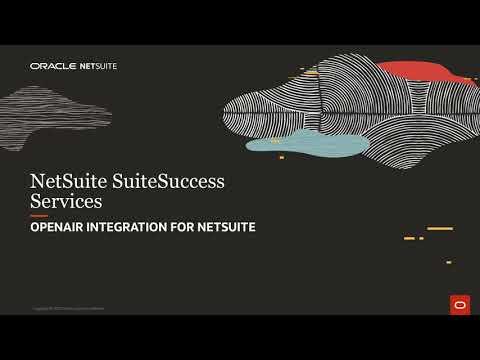 NetSuite SuiteSuccess for Services  OpenAir Integration