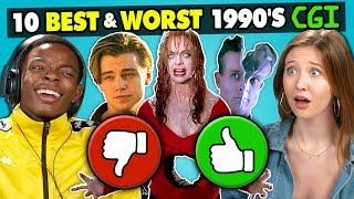Download Teens React To 10 Best & Worst 1990s CGI Movie Effects Mp3 and Videos