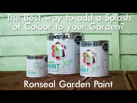 The Best way to add a Splash of Colour to your Garden? - Ronseal Garden Paint.
