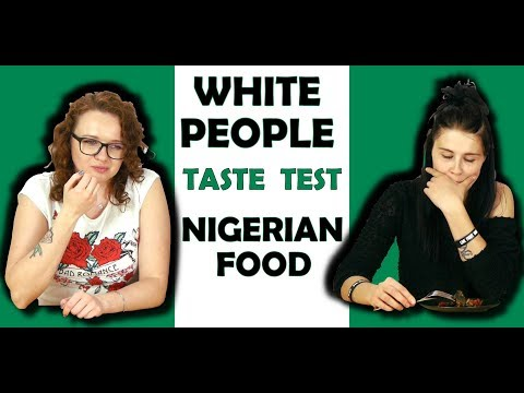 WHITE PEOPLE TRYING NIGERIAN FOOD FOR THE FIRST TIME!