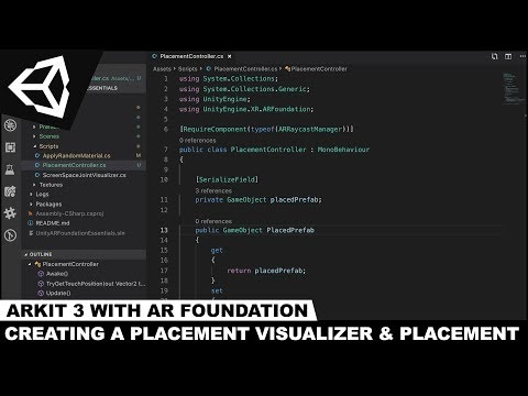 ARKit 3 with Unity3d and AR Foundation - Adding Plane Detection and A  Placement Controller