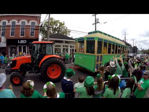 Saint Patrick's day parade from the Irish Channel in New Orleans Louisiana