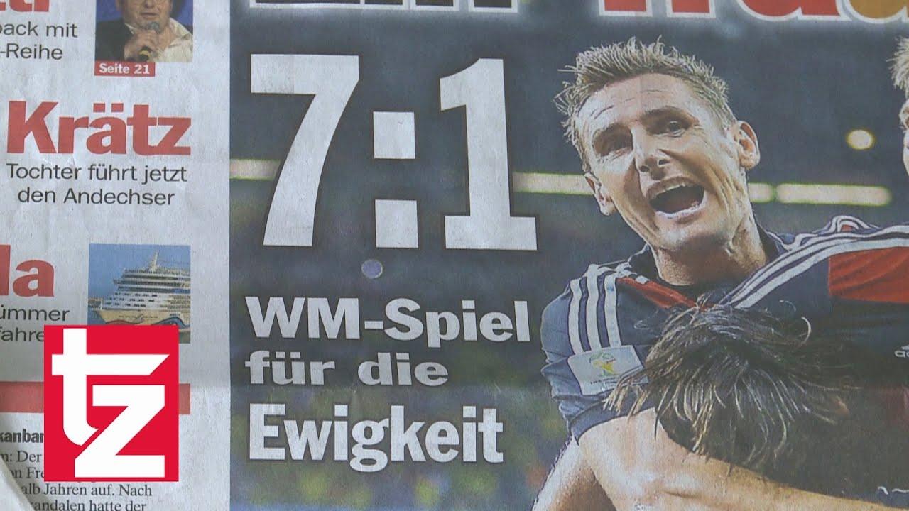 Wm 2014 Deutschland Brasilien 7 1 So Feiern Presse Und Fans Den Einzug Ins Wm Finale