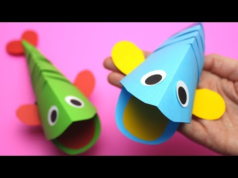 Moving Paper Fish | Paper Crafts for Kids
