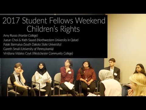 2017 Pulitzer Student Fellows Panel:  Children's Rights & Education