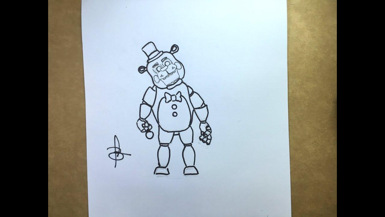 Como Desenhar O Freddy Fazbear Five Nights At Freddy S Youtube