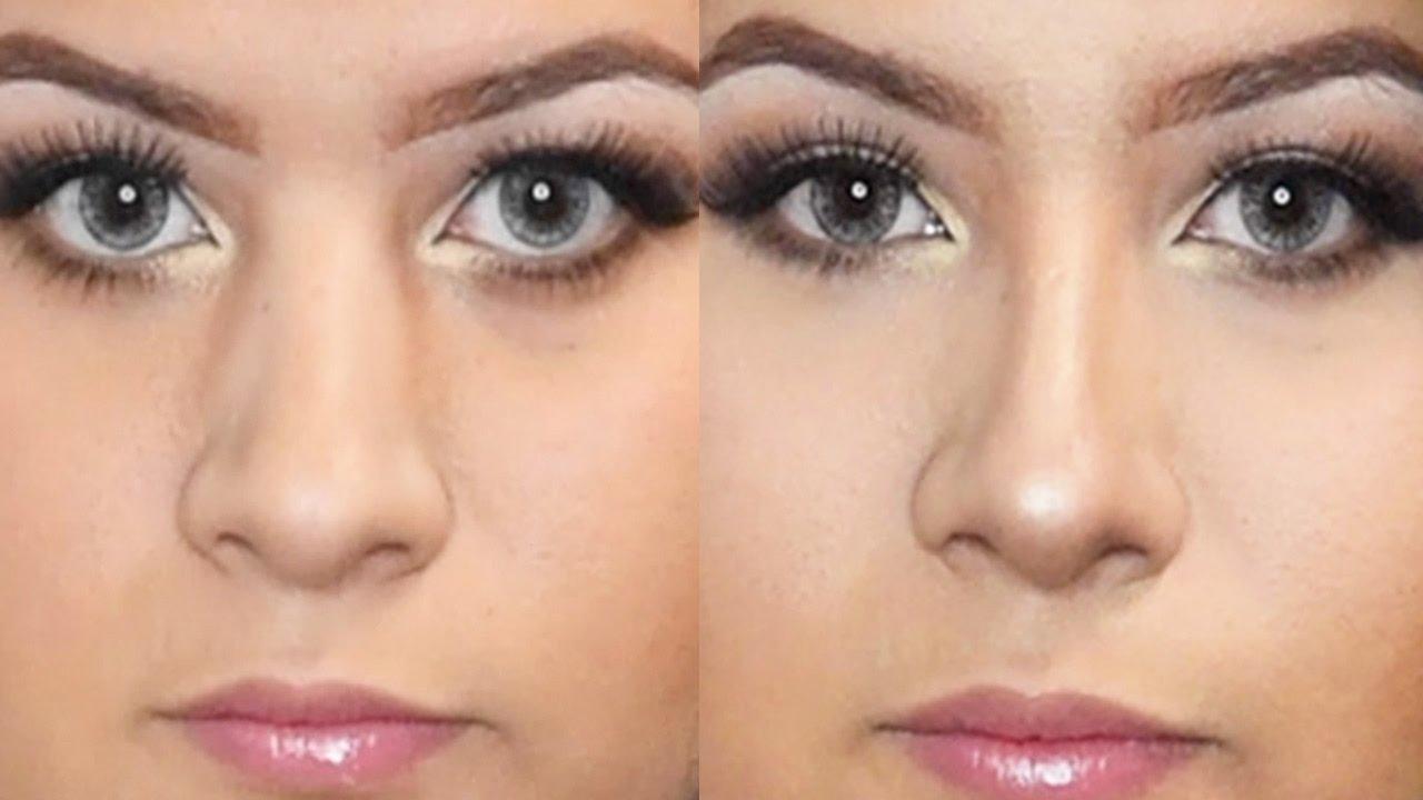 How To Contour A Wide Long Nose