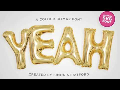 Yeah foil balloon font using OpenType-SVG - YouTube