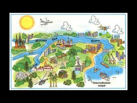 """Окружающий мир 1 класс ч.1, тема урока """"Куда текут реки?"""", с.66-67, Школа России."""