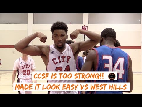 City College of San Francisco Makes a STATEMENT vs West Hills State Playoff I Full highlights
