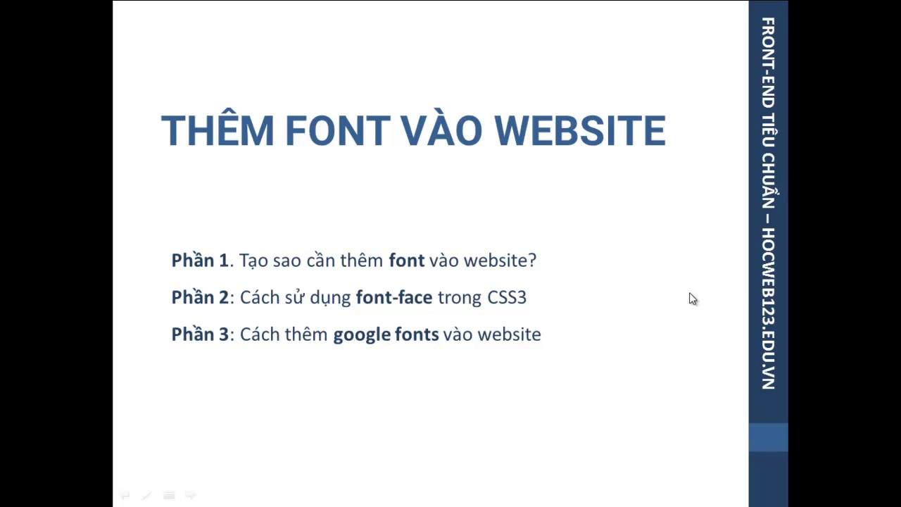 Thêm font vào website