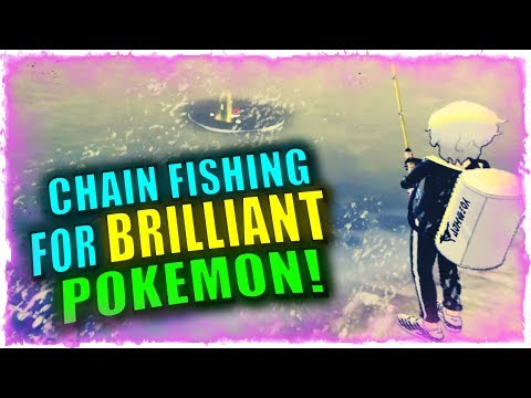 🎣 HOW TO FIND MAX IV BRILLIANT POKEMON WITH CHAIN FISHING IN POKEMON SWORD AND SHIELD!
