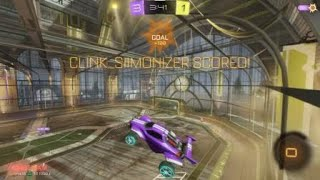Rocket League epic save and off the board goal