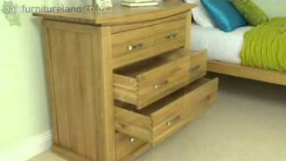 Tokyo Solid Oak Chest Of Drawers From Oak Furniture Land
