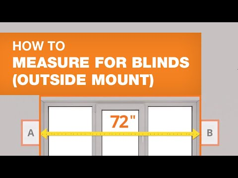 How To Measure For Blinds (Outside Mount)