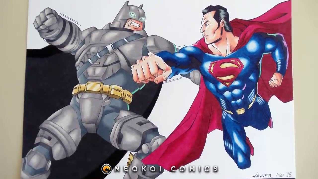 how to draw batman vs superman