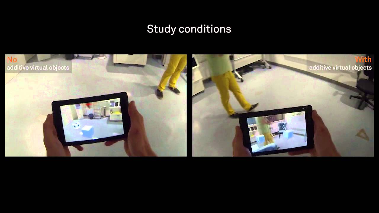 Virtual Objects as Spatial Cues in Collaborative Mixed