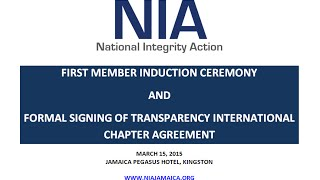 NIA's First Member Induction Ceremony & TI Chapter Agreement Signing