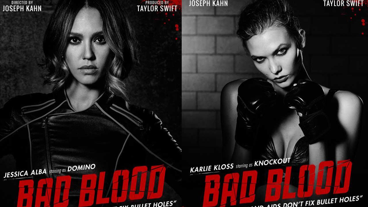 Taylor Swift Bad Blood Music Video Posters Karlie Kloss Jessica Alba Youtube