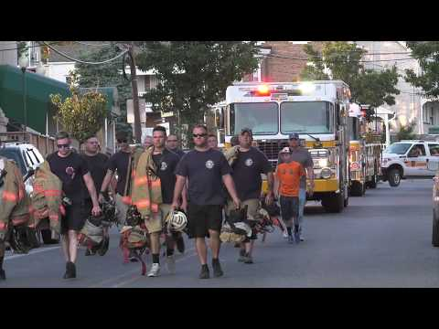 Catasauqua, PA Fire Department march to new headquarters