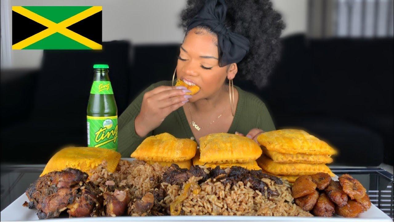 JAMAICAN FOOD MUKBANG | BADDIE TWINZ TV 15 JAMAICAN PATTY CHALLENGE
