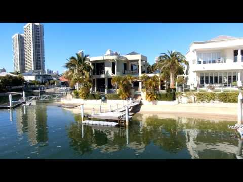 Travel Australia: Mansions by Nerang River, Brisbane City, 澳大利亚旅游:布里斯本市 (奈蕴河、奈運河)沿岸的豪宅