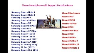 These Smartphone will Support Fortnite Game