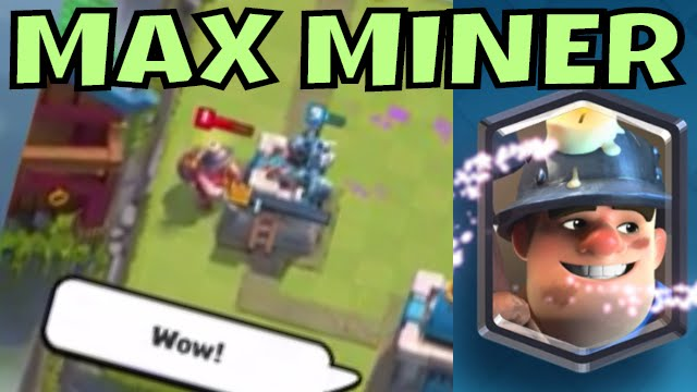 Clash Royale MINER CARD MAXED MINER GOBLIN BARREL