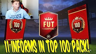 Fifa 18 - 11 informs in top 100 pack!! ⛔️