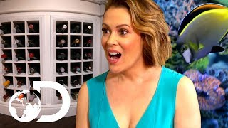Alyssa Milano's Tank Features a Wine Rack! | Tanked